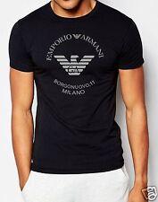 EMPORIO ARMANI BORGONUOVO,11 black Men's cotton Slim T-shirt Size M,L,XL