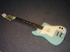 Vintage 1960s Kay Vanguard electric guitar in rare teal blue