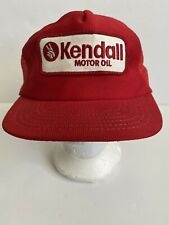 Vintage Trucker Hat Kendall motor oil PATCH snapback Cap Red