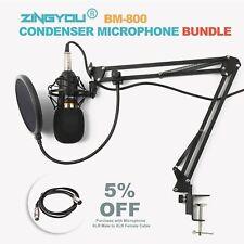 Gold Recording Microphone Adjustable Studio Mic Suspension Scissor Arm
