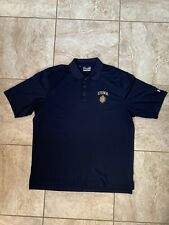 Usnaval Academy Under Armour Polo/Navy Blue, Large