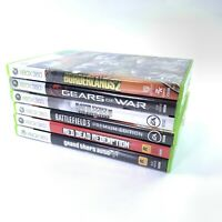 Xbox 360 Games Red Dead Grand Theft Gears Borderlands Battlefield Bundle Lot 6
