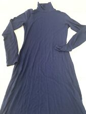 Lulus Long Sleeve Turtleneck Dress XS Stretch Dark Navy Blue Holiday Party Dress