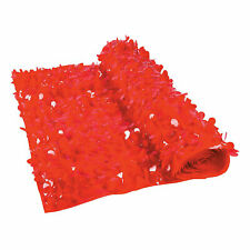 Red Floral Sheeting Backdrop - Party Decor - 1 Piece