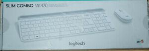 Logitech  MK470 Slim Funk-Tastatur-Maus-Set - Weiß (920-009189)