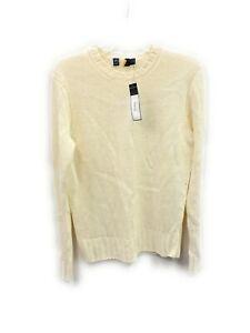 Men's Polo Ralph Lauren Heavy Knitted Sweater Ivory Italian Made Yarn XXL