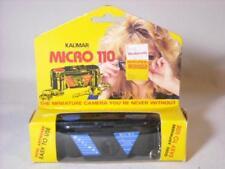 NEW VTG. KALIMAR MICRO 110 MINIATURE CAMERA 110 FILM CAMERA W/BOX BLACK & BLUE
