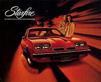 1975 Oldsmobile Starfire Original Car Sales Brochure Folder