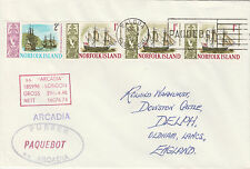 Norfolk Island 4524 - Used in BALBOA, CANAL ZONE  1968 PAQUEBOT cover to UK