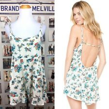 brandy melville Cerulean Blue Floral ruffle trimmed Rayon jada dress sundress