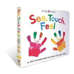 See Touch Feel Hard Back Sensory Baby Book Children's Cognitive Learning Toys