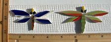 "3"" & 4"" Colorful Dragonflies Mosaic Tiles, Broken China Mosaic Tiles"