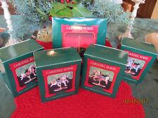 Carousel Horses-Base (5) Hallmark Keepsake ornaments1989 NEW 4 horses 1 base set