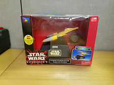 Thinkway Toys Star Wars Episode 1 Naboo Starfighter Wake up System, New!