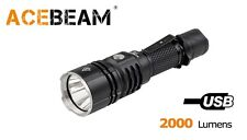 New AceBeam L16 Cree XHP35 HI 2000 Lumens 6500K LED Flashlight ( NO battery )