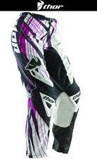 Thor Womens Phase Flora 3/4 Magenta White Pink Dirt Bike Pants Motocross MX ATV