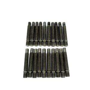 20x Doppelgewindebolzen M12x1,5 68mm Radbolzen Stehbolzen für Lug Nuts schwarz