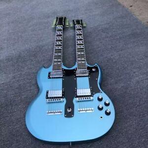 Custom Shop Double Neck EDS 1275 Blue Color Electric Guitar