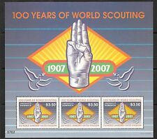 DOMINICA SG3536a 2007 100 YEARS OF SCOUTING SHEETLET   MNH