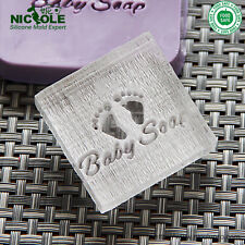4X4cm 0102 Baby Foot Natural Handmade Acrylic Soap Seal Stamp Custom Soap Stamps