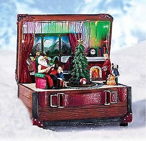 Avon Christmas Visit with Santa Claus Scene