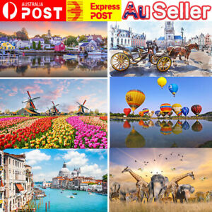 ❤AU!500pieces England Cottage Jigsaw Puzzles For Adults Games Educational Toy++
