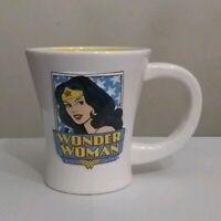 DC Comics Superhero Wonder Woman White/Yellow 3D Ceramic Coffee Drinking Mug