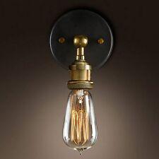 Muro in ottone luce applique Edison VINTAGE LAMPADA INDUSTRIALE Retrò Nuovo