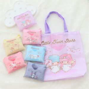 Cinnamoroll kuromi melody fold  waterproof handbag travel shopping bag anime