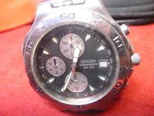 Citizen chronograph wr100, running, quartz, 144
