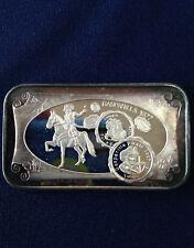 1977 Normark Mint Gasparilla 1977 WWM-46B World Wide Mint Silver Art Bar P0586