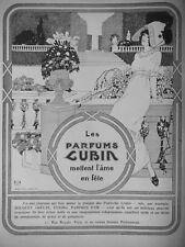 PUBLICITÉ  DE PRESSE 1911 LES PARFUMS LUBIN BOUQUET GREUZE ENIGMA PAMPRES D'OR
