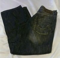 Mens Ecko Unlimited Baggy Fit Faded Black Jeans