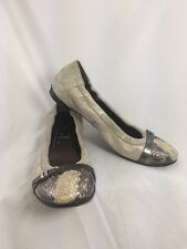 AGL Snake Print Taupe Ballet Flats Loafers Slip On Round Toe Size  EUR38