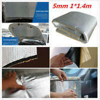 1Pcs 5mm 1*1.4m Car Engine Heat Mat Sound-Absorbing Pad Shield Noise Insulation