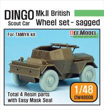 DEF. MODEL, WW2 British Dingo Mk.II Sagged Wheel set, DW48008, 1:48