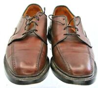 Allen Edmonds Hillcrest Oxford Men's Size 9 D Brown Leather Bicycle Toe Shoe USA