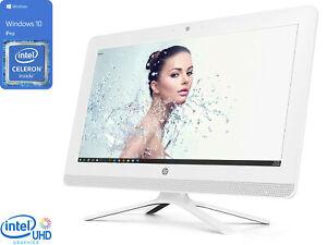"HP All-in-One, 19"" FHD, Celeron J4005, 4GB RAM, 256GB SSD, DVDRW, Windows 10 Pro"