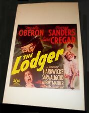 THE LODGER   / JACK THE RIPPER  / ORIGINAL1944   /  WINDOW CARD POSTER  / EX.+