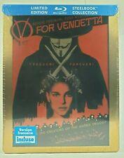 V For Vendetta Natalie  Portman( STEELBOOK Blu-ray)Limited édition  NEW ALL ZONE