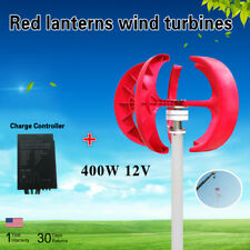 Lantern Wind Turbine Generator 5 Blades Vertical Axis w/ Controller 12V 400W VST