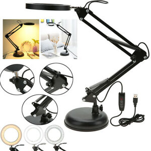 New Tattoo Swing Arm Table Desk Lamp Makeup LED Light Beauty Manicure Salon USB
