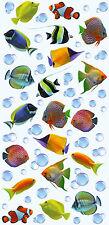 Wandsticker Wandtattoo Aufkleber Fische Wasserblasen Deko Dekoration 3D-Optik