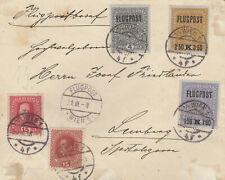 Flugpostbrief 30.3.1918,  Wien - Lemberg