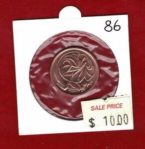 1986 Australia Two Cents Unc. 2c Coin