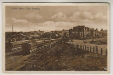 More details for india postcard - colaba station yard, bombay - rp (a25)