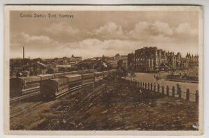 India postcard - Colaba Station Yard, Bombay - (A25)