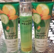 LOT OF 3 CUCUMBER MELON BATH AND BODY WORKS 2 LOTION, 1 FRAGRANCE MIST SET
