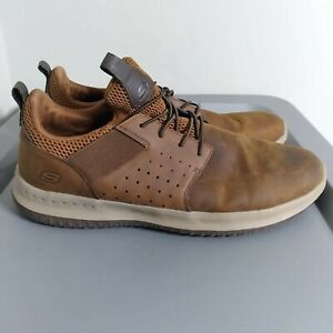 Skechers Delson Men's Size 12 Running Shoes Brown Gogamat Arch Athletic Sneakers