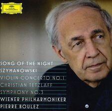 Pierre Boulez, P. Bo - Song of the Night / Szymanowski: Violin Cto No 1 [New CD]